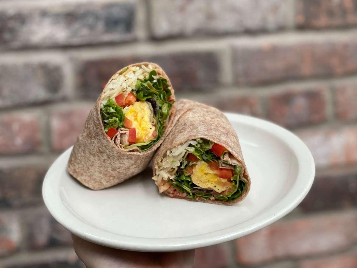 vegetarian breakfast burrito
