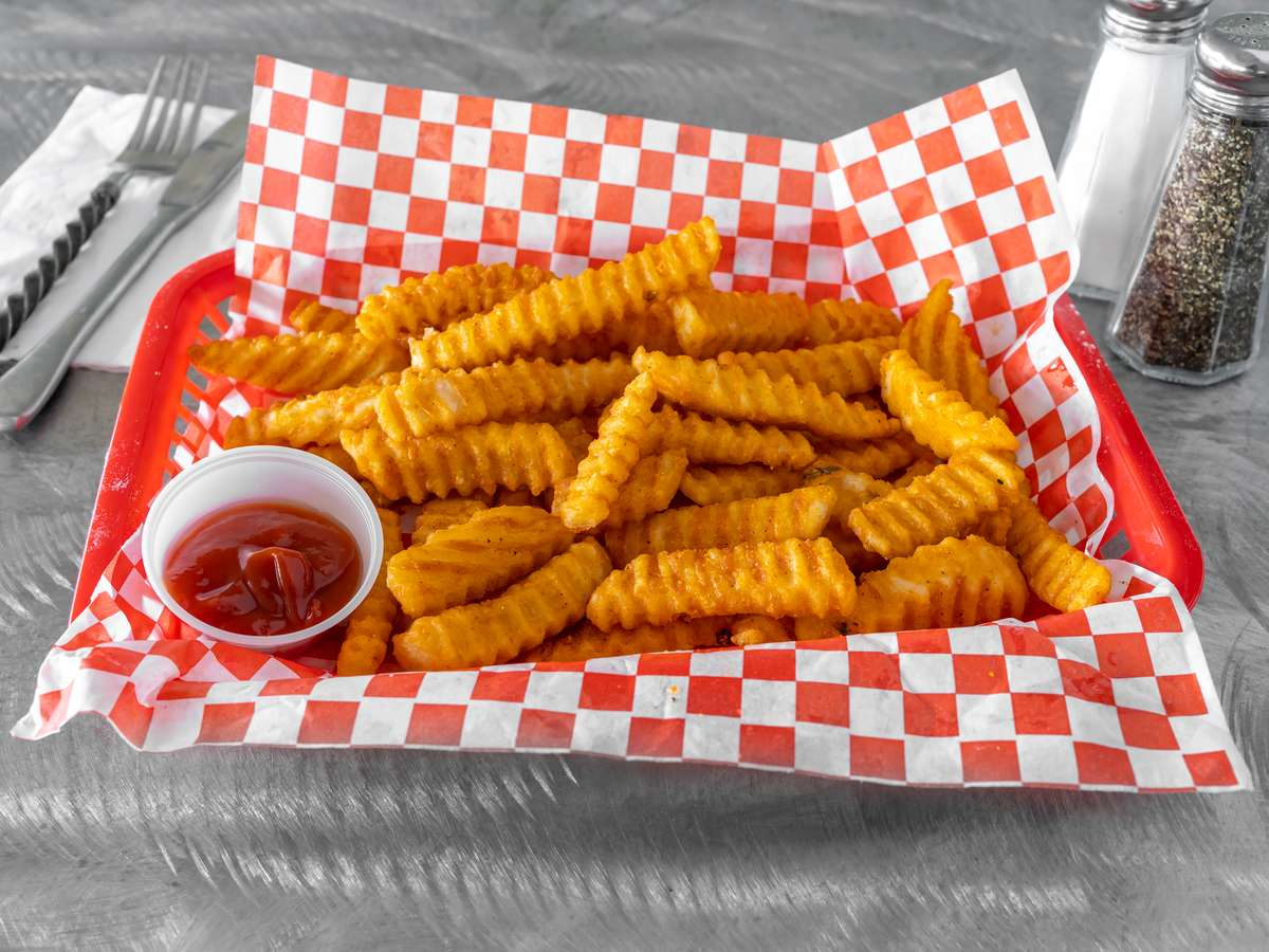 Large Seasoned Crinkle Fries