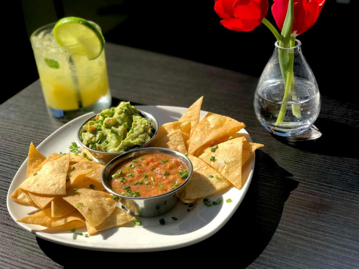 *Fresh Corn Tortilla Chips w/ Guacamole & Avocado Salsa