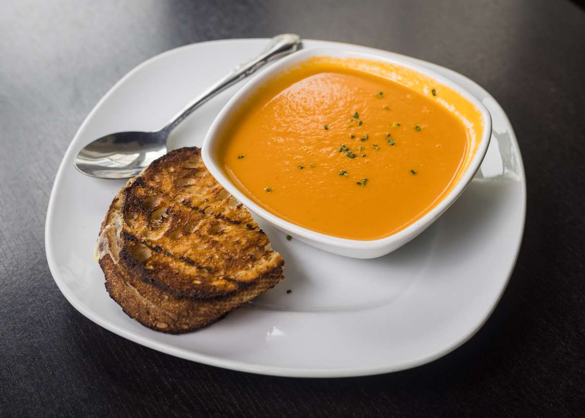 Roasted Tomato Soup w/ ½ Grilled Cheese