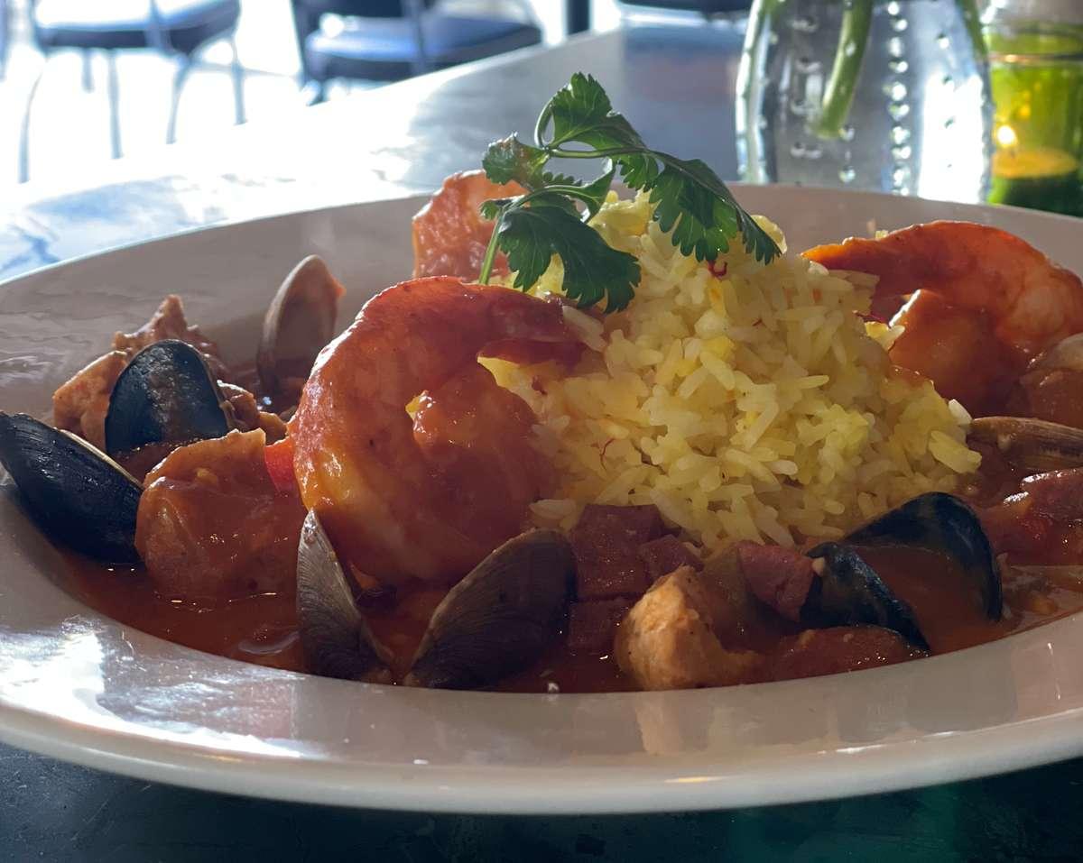 Southern Jambalaya w/ Littleneck Clams, Mussels, Grilled Chicken, Sausage & Saffron Rice