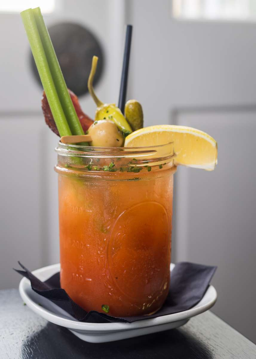 Smoked Chipotle Bloody Mary w/ Applewood Bacon
