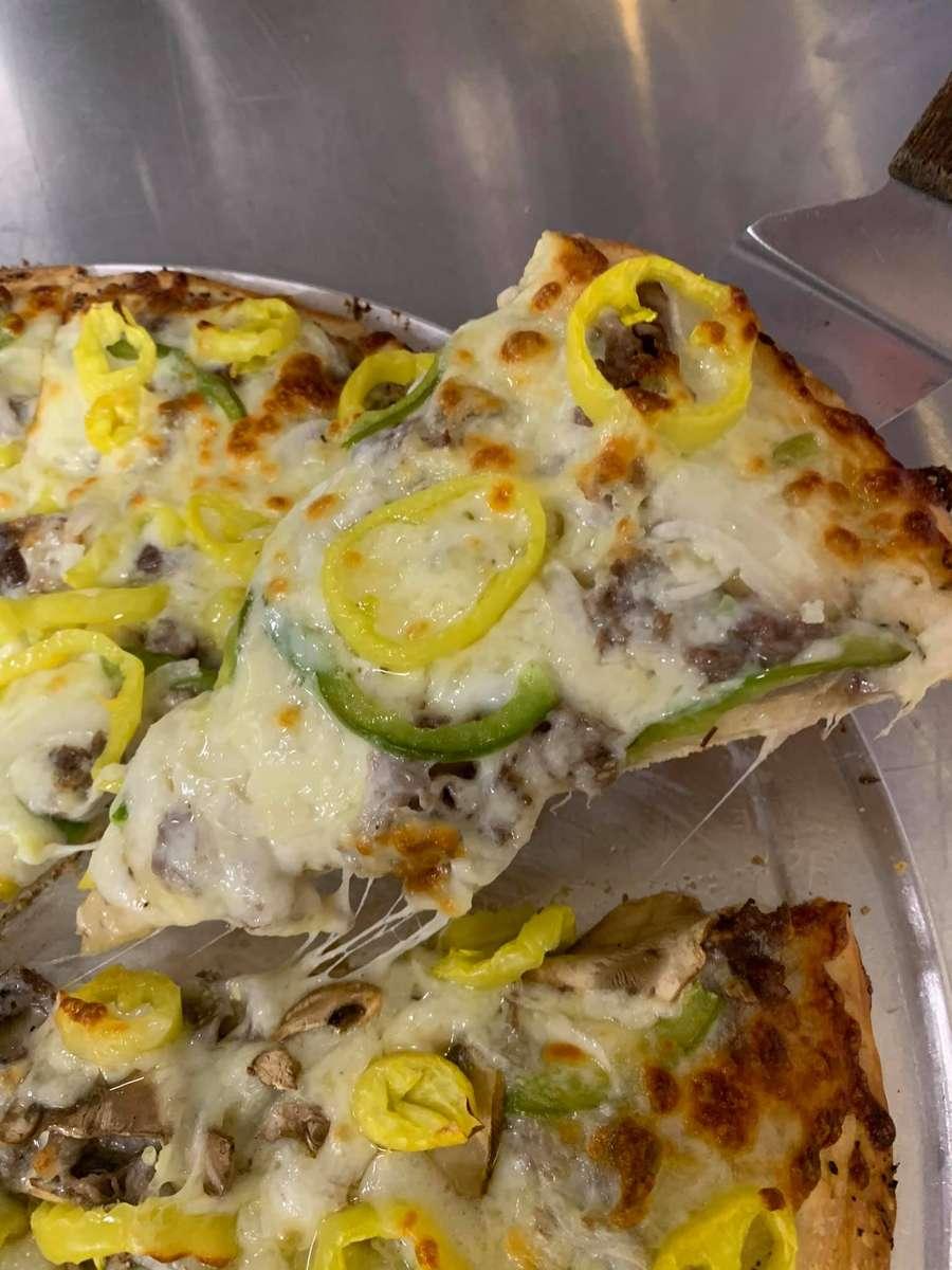 Famous Sirloin Steak & Cheese Pizza