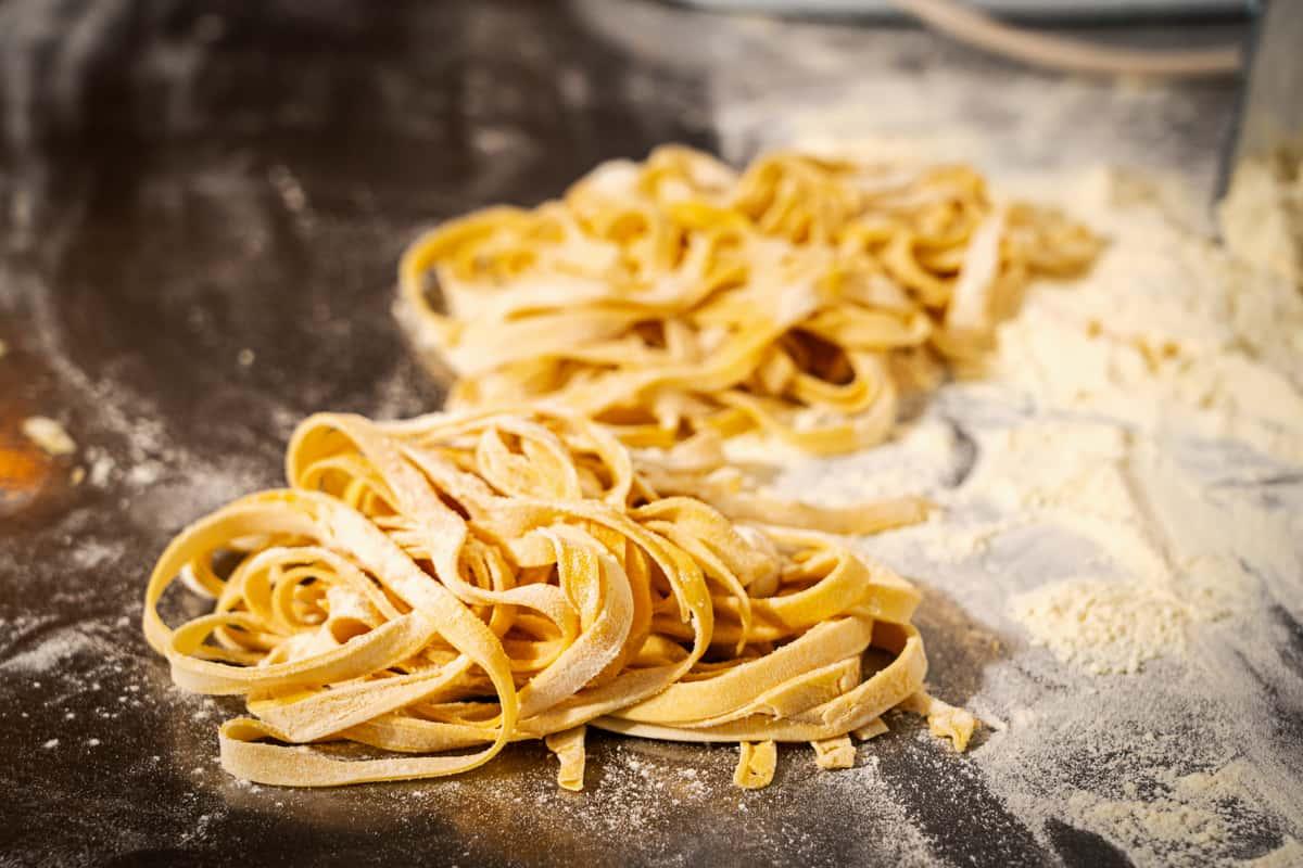 swirls of pasta