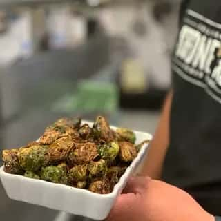 Crispy Brussel Sprouts with Balsamic Gaze. GF
