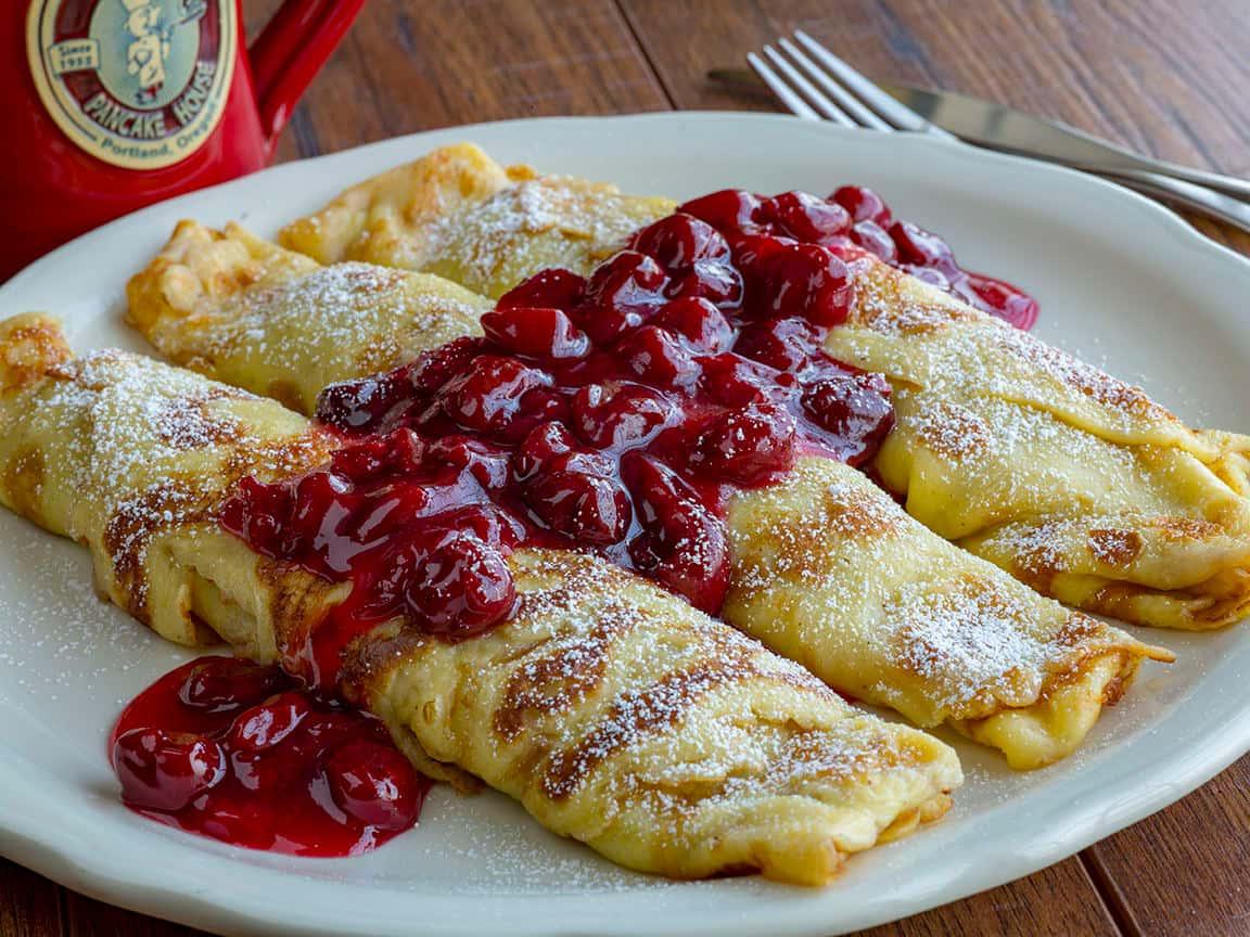 Cherry Kijafa Crepes