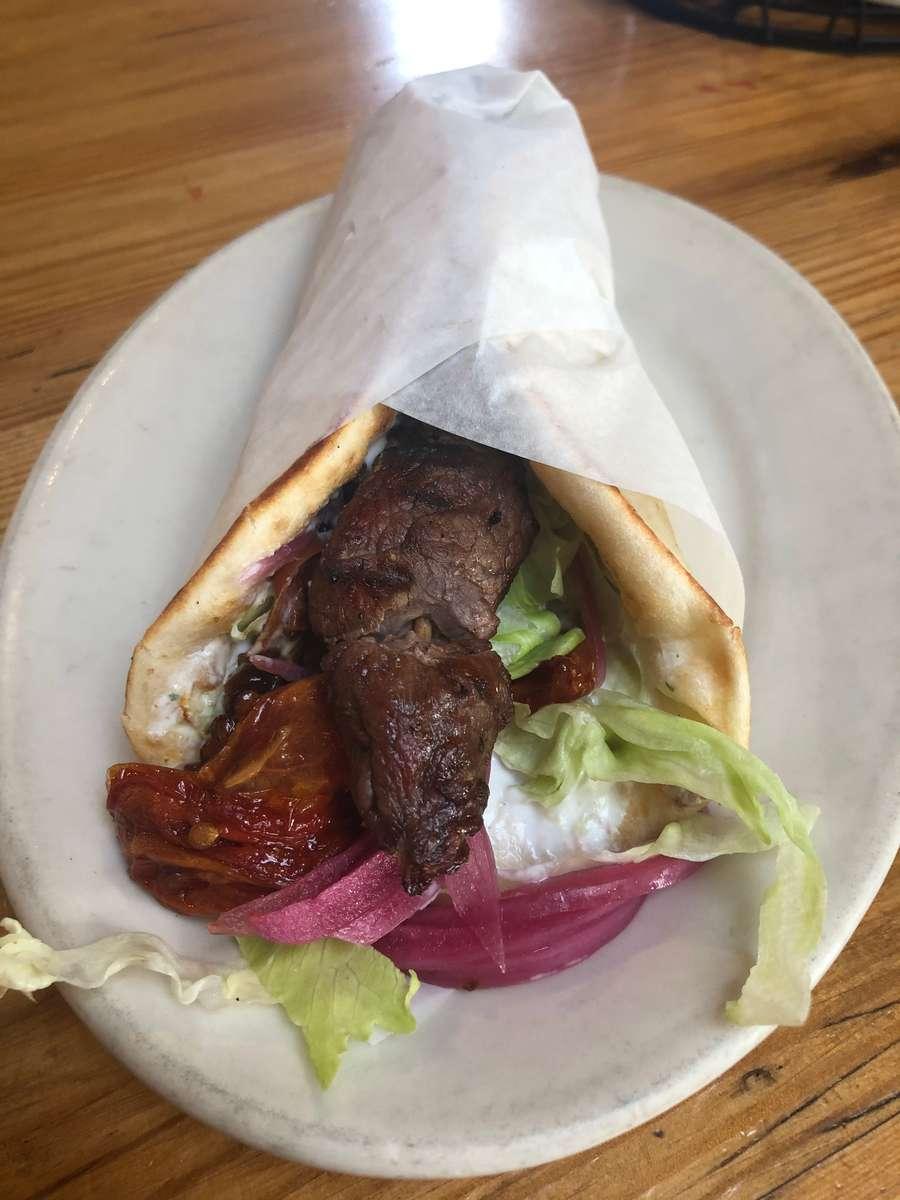 Lamb Souvlaki Pita Sandwich