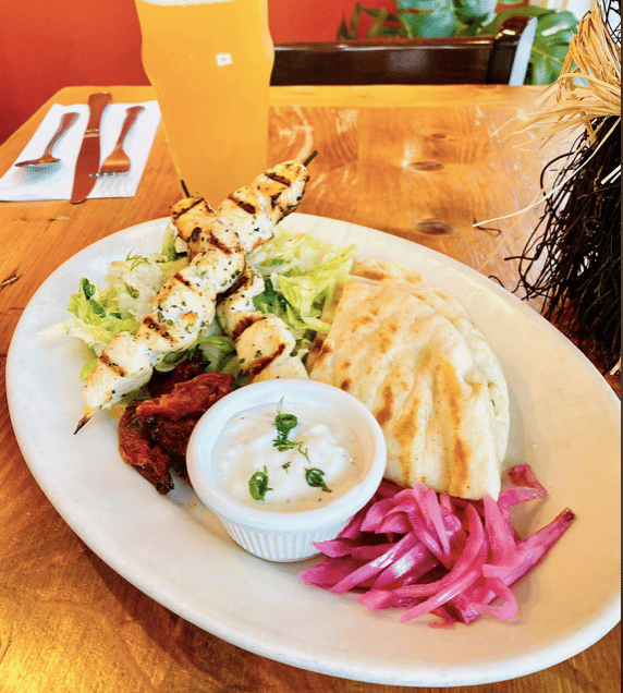 Chicken Souvlaki Plate