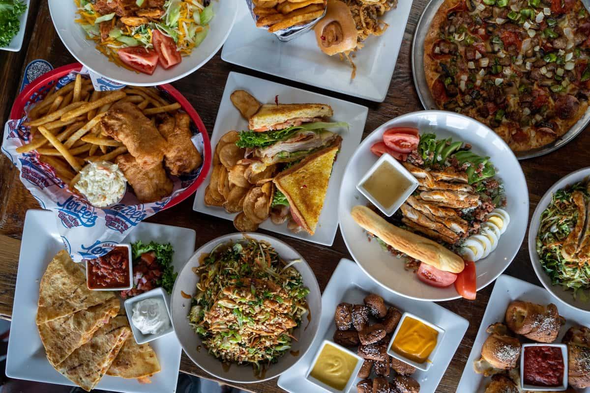 food displayed