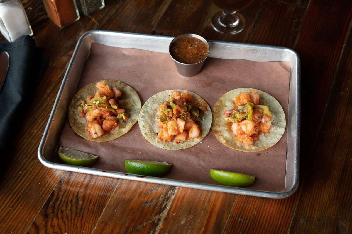 Three Spicy Grilled Shrimp Tacos