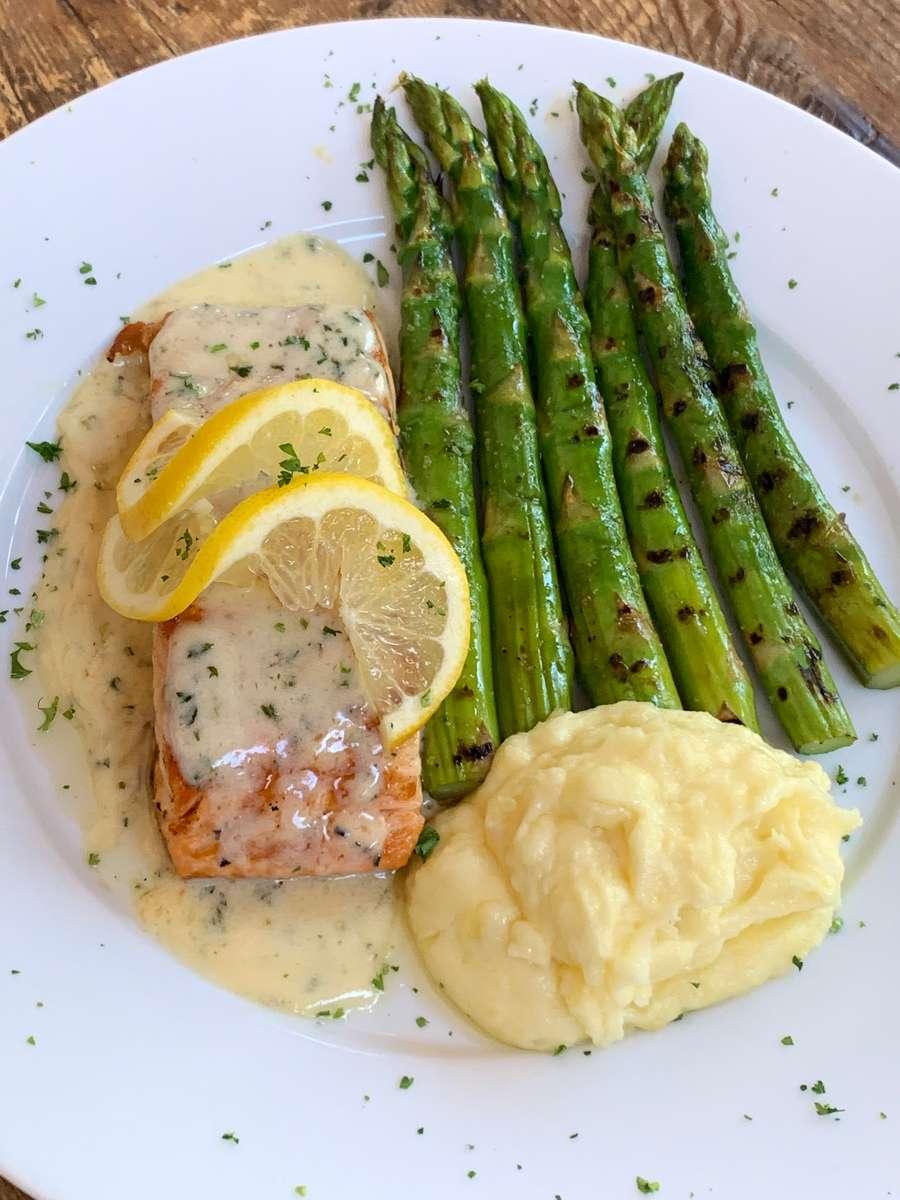 Salmon + Lemon Cream Sauce