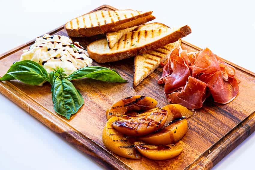 Prosciutto + Grilled Peaches