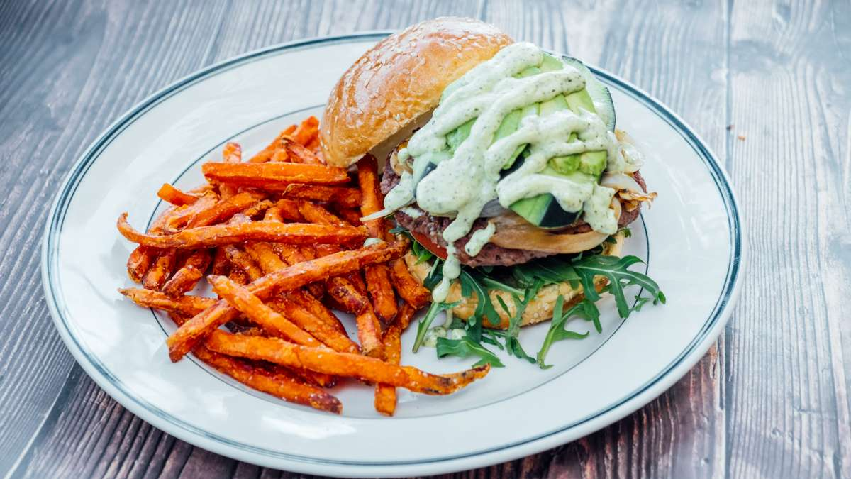Impossible™ Cool Greens Burger