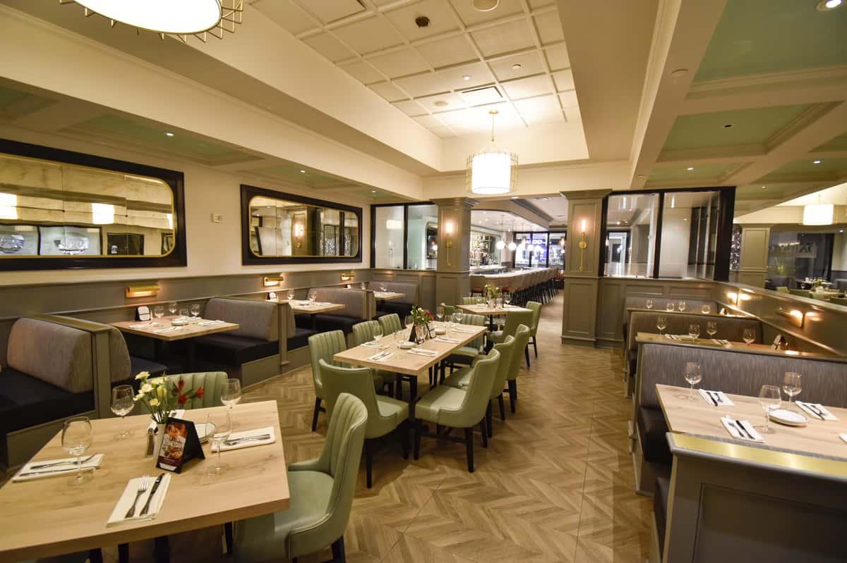 semi-private dining area