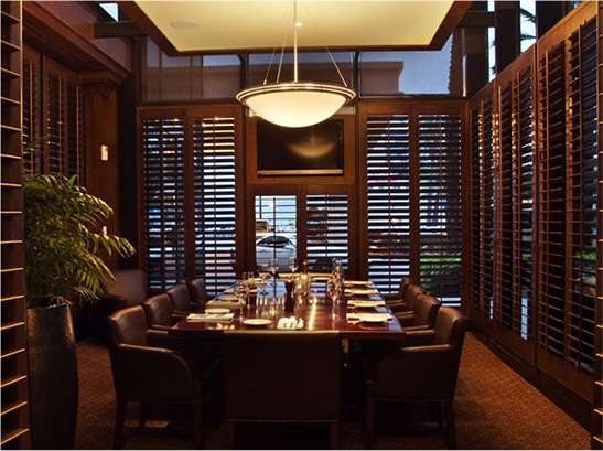 interior private dining