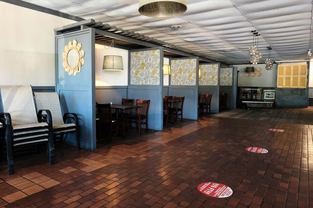 Socially distanced interior dining