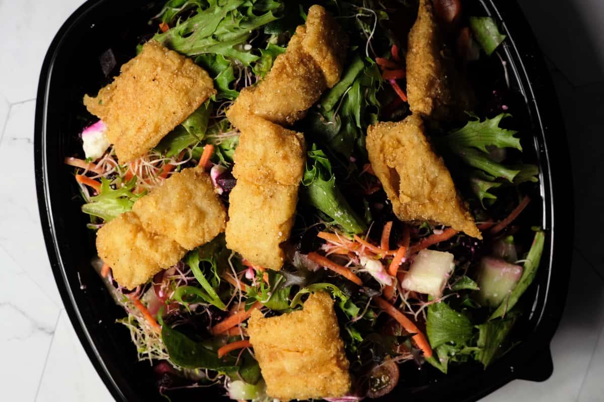Fish Nuggets Salad