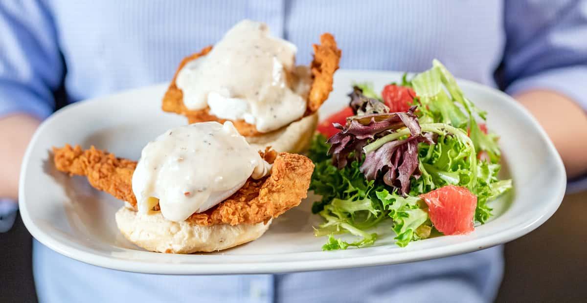 Chicken-Fried Benedict