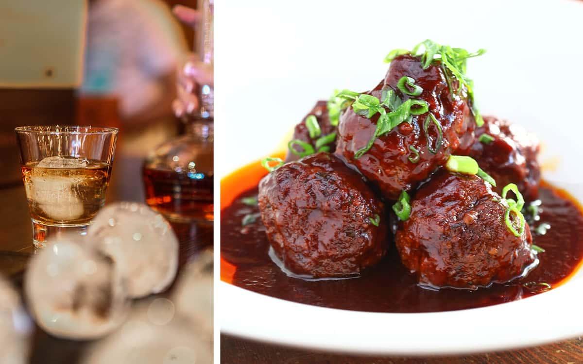 meatballs and bourbon