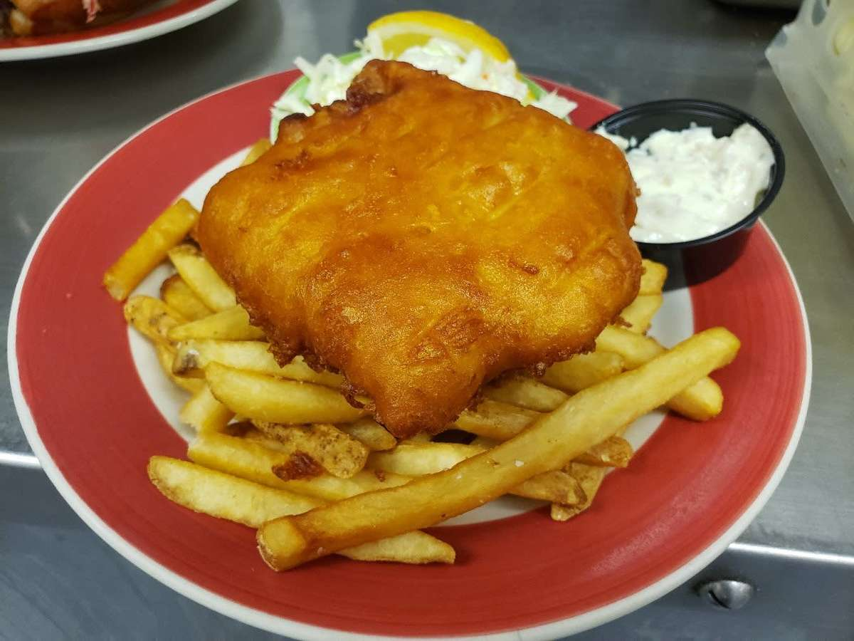 Sam Adams Beer Battered Fish & Chips