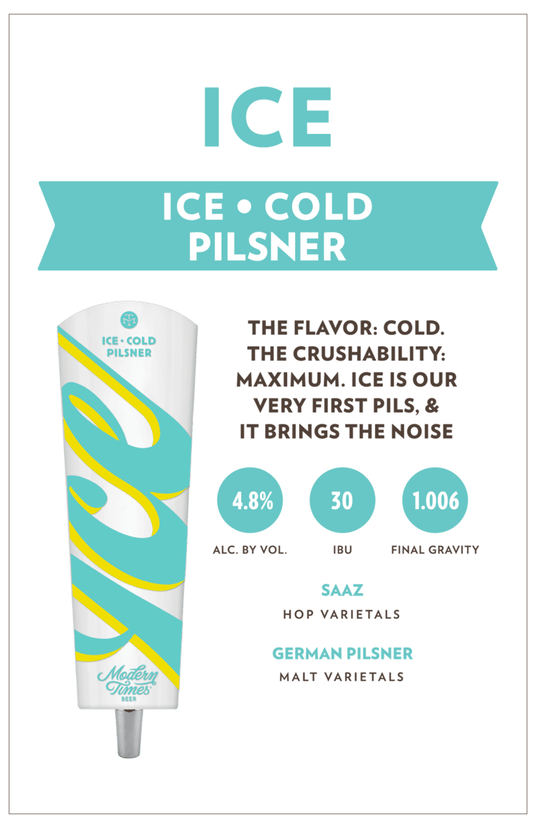 Modern Times, 'Ice' Pilsner