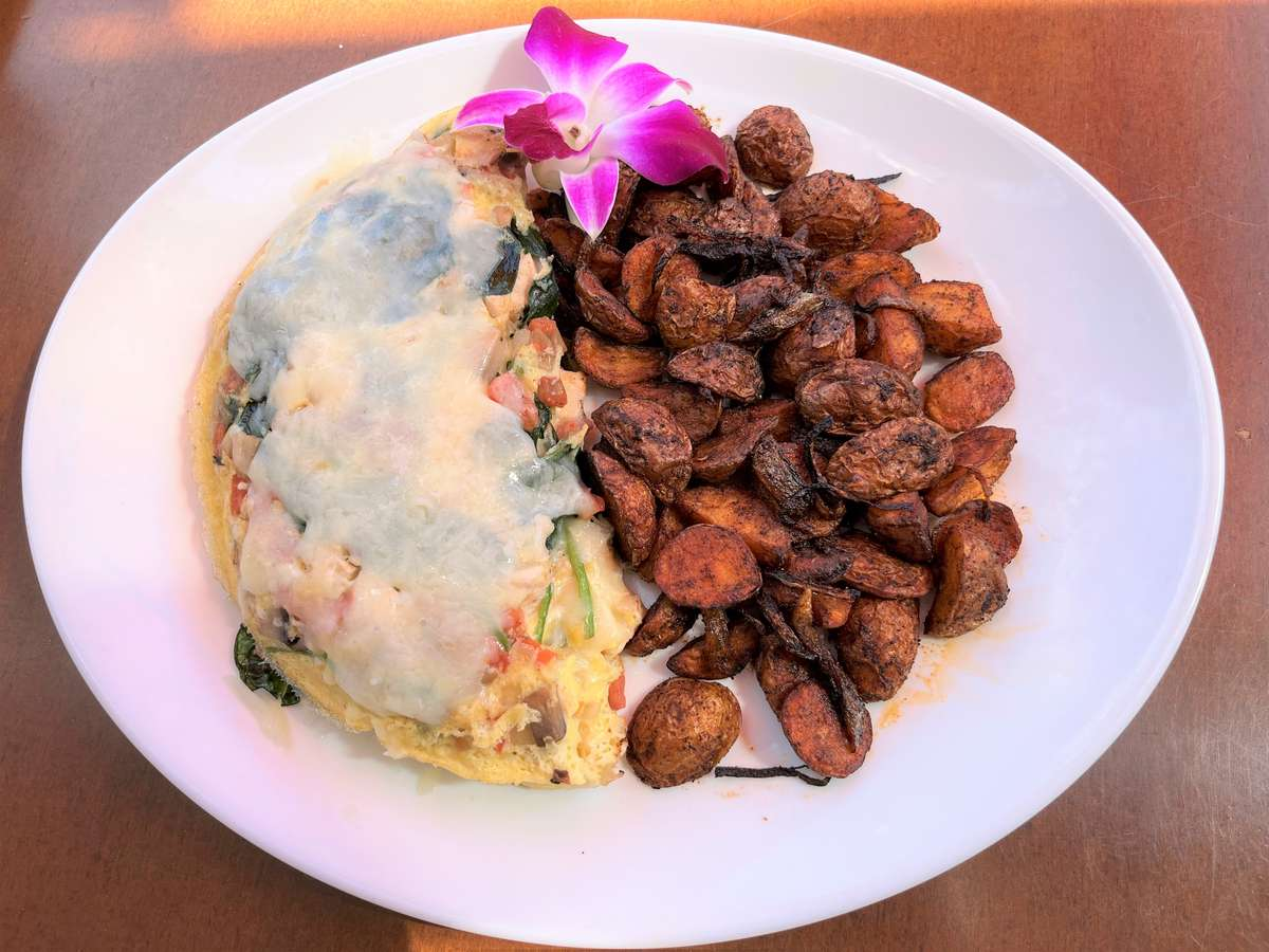 Chicken & Spinach Omelet