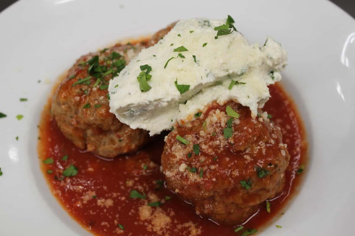 Handmade Meatballs W/Ricotta