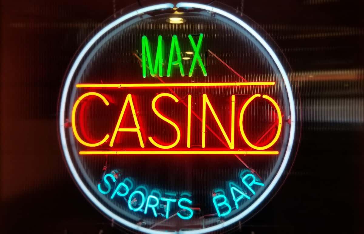 Max Casino LED sign