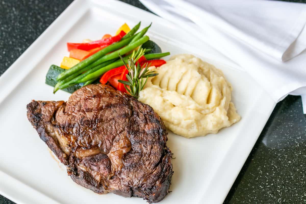 *USDA Choice 12oz. Aged Ribeye Steak