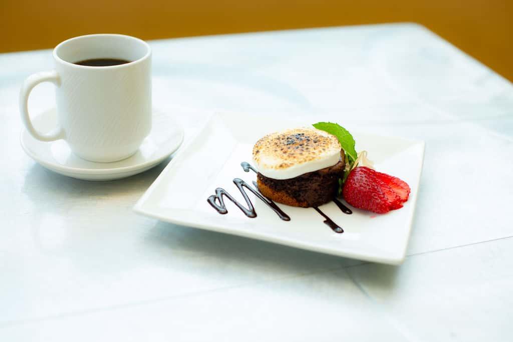 Hot Chocolate S'mores Mini Cake