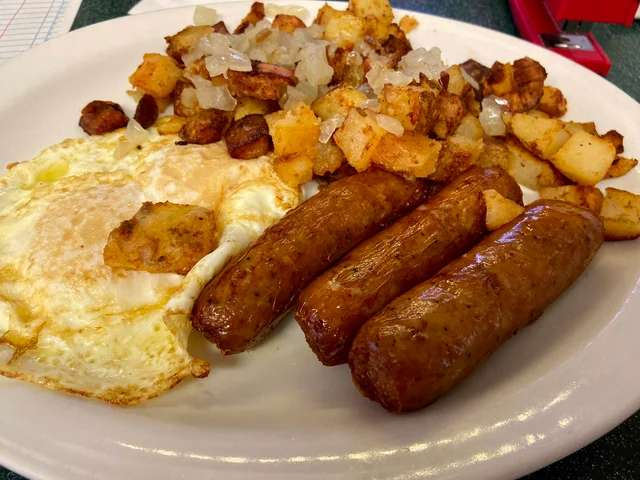 Grilled Polish Sausage and Eggs