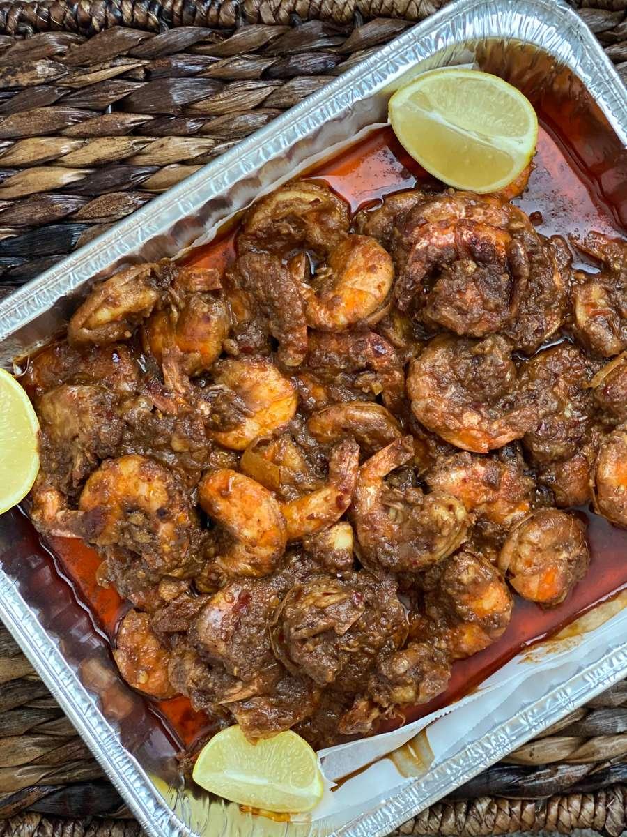 Hawaiian Garlic Shrimp Tray