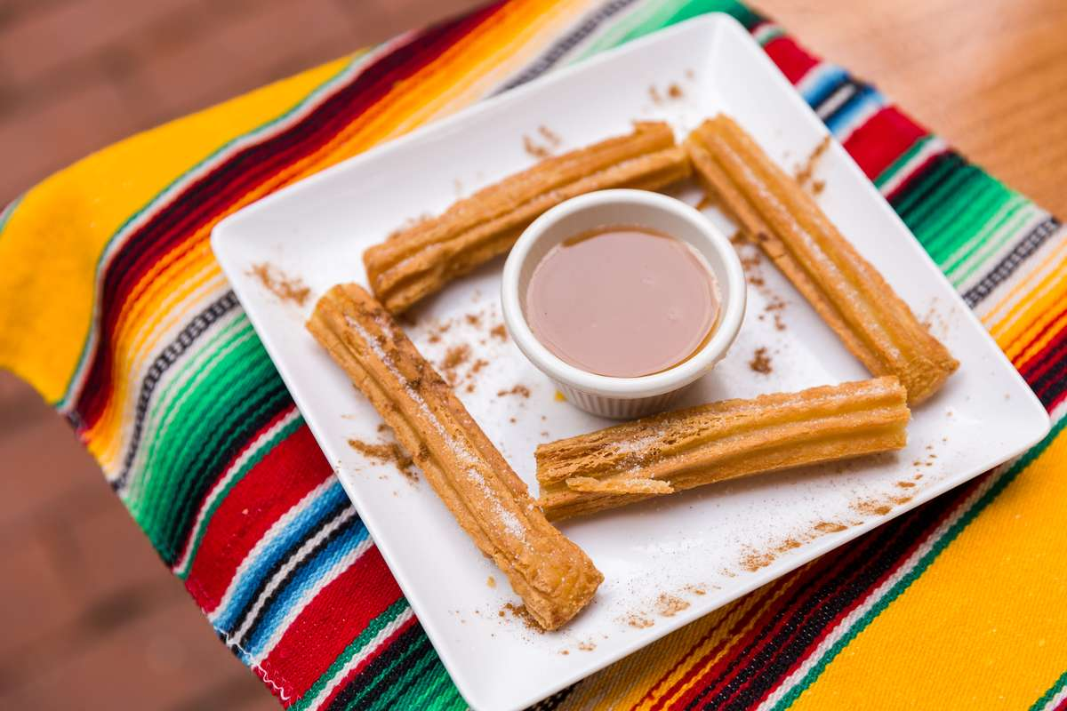 Churros with Caramel Sauce
