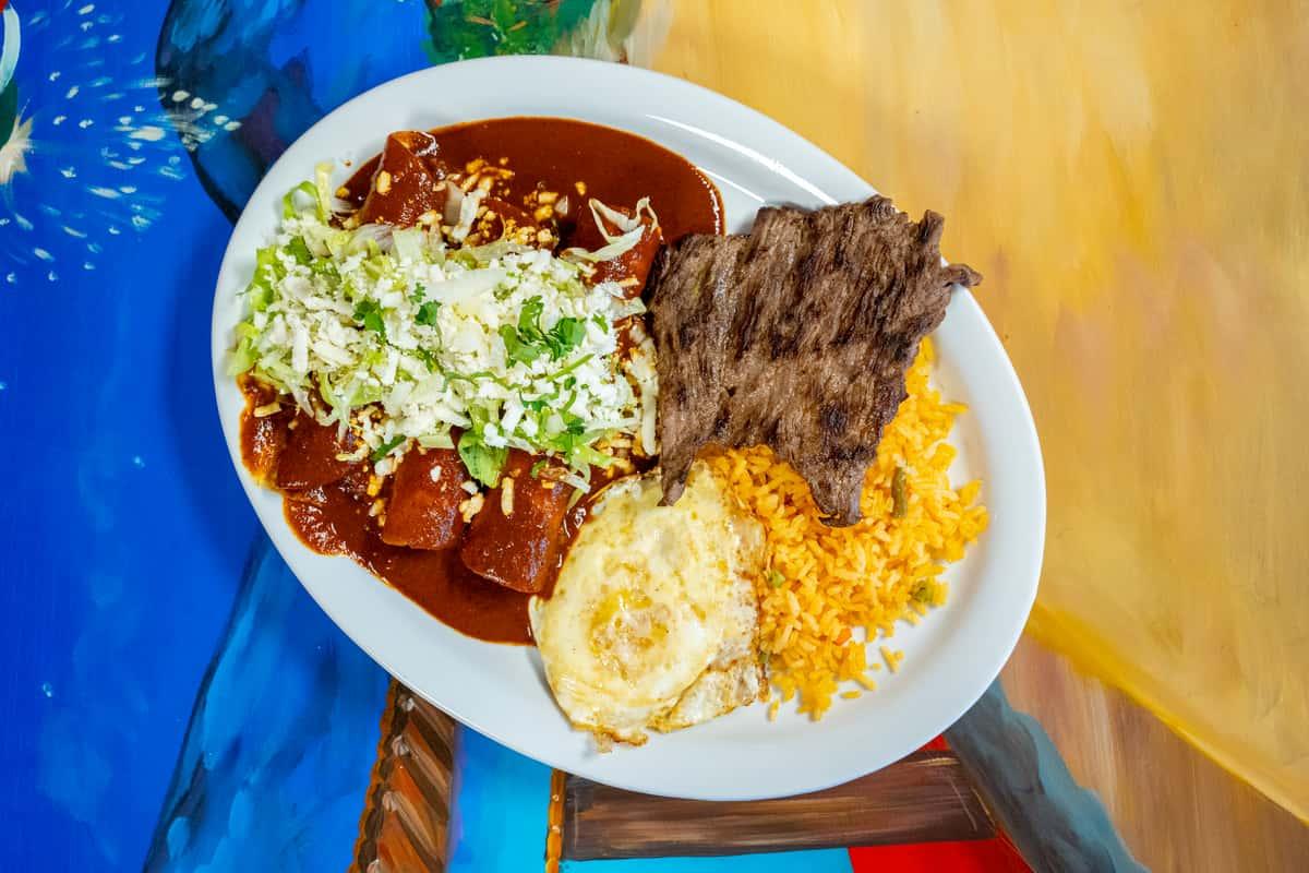 Enchiladas Oaxaqueña - Oaxaca Enchilada