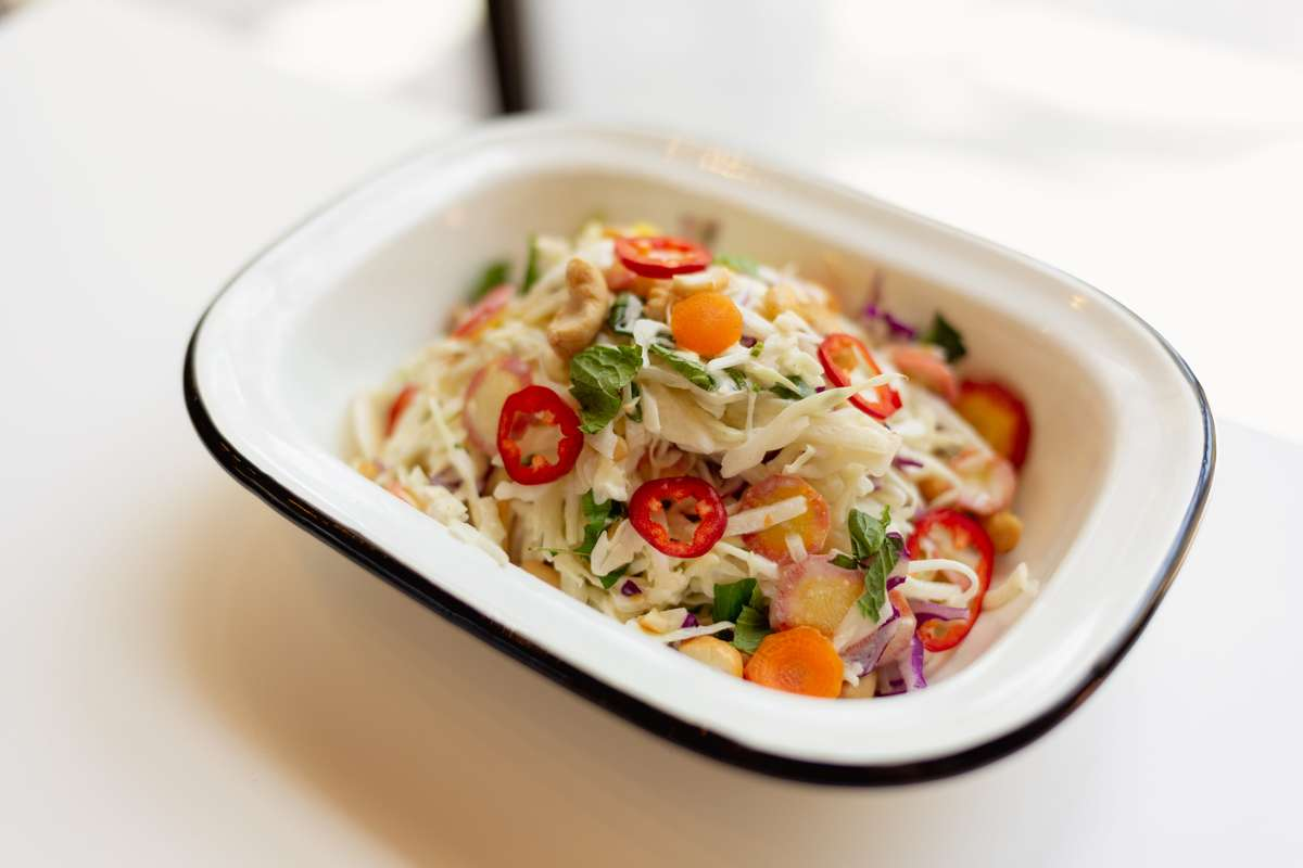 Red Chili Cashew Slaw