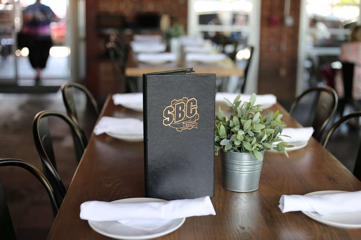 menu on the table