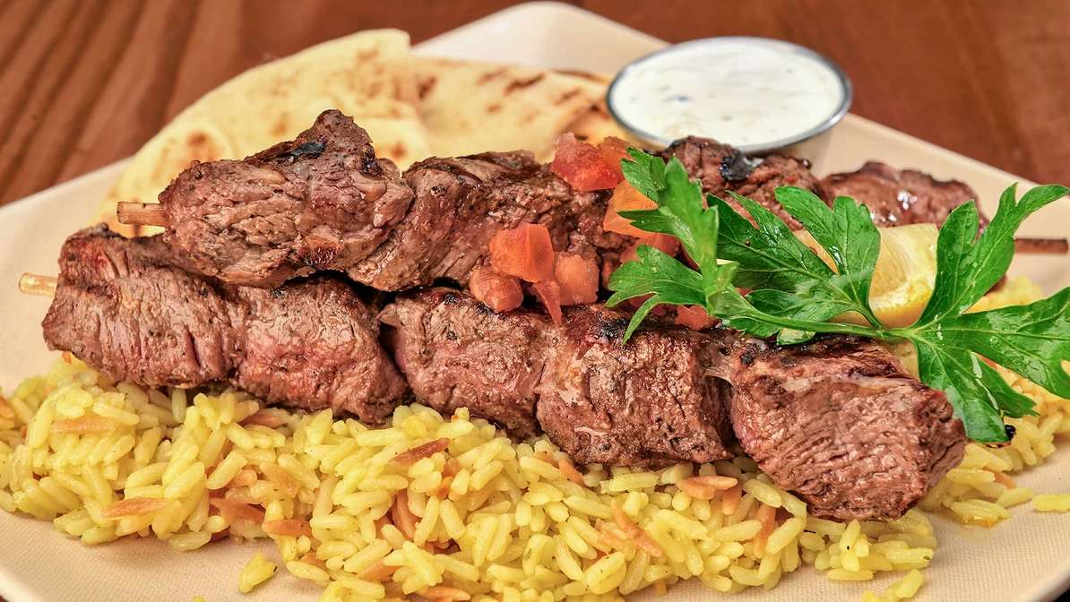 Grilled Steak Souvlaki