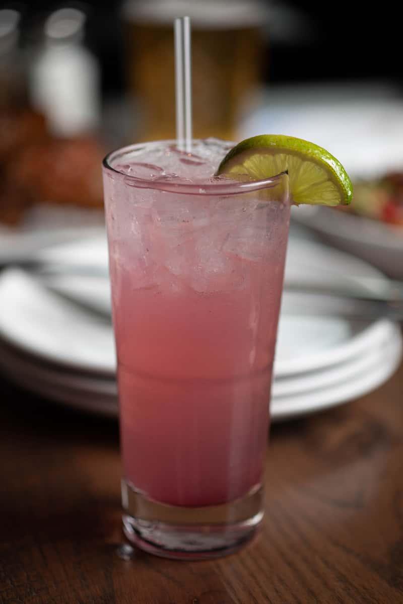 Blueberry Lemon Basil Margarita
