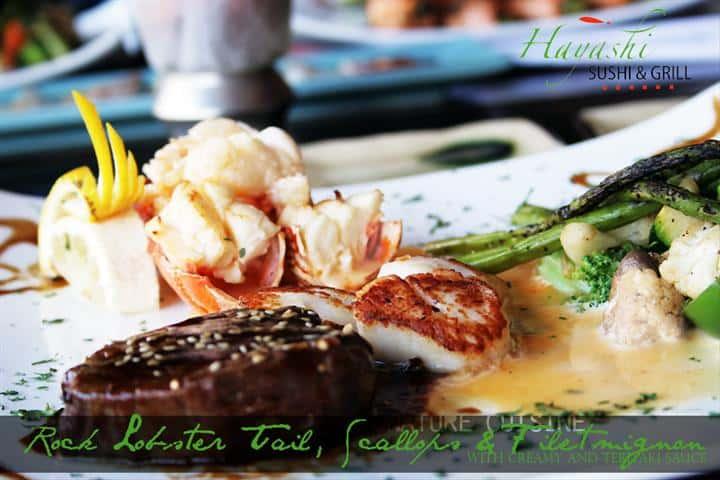Lobster Tail, Scallop & Filet Mignon