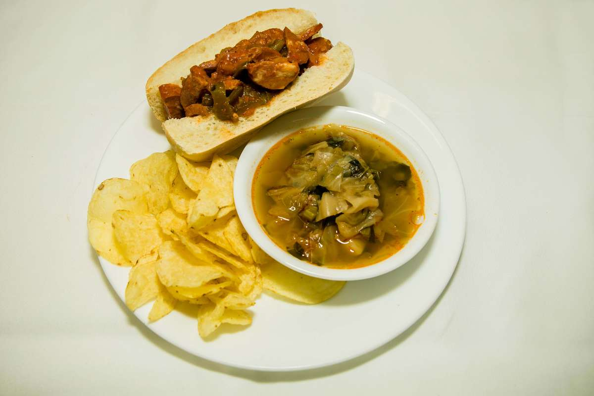 1/2 Sandwich with Soup
