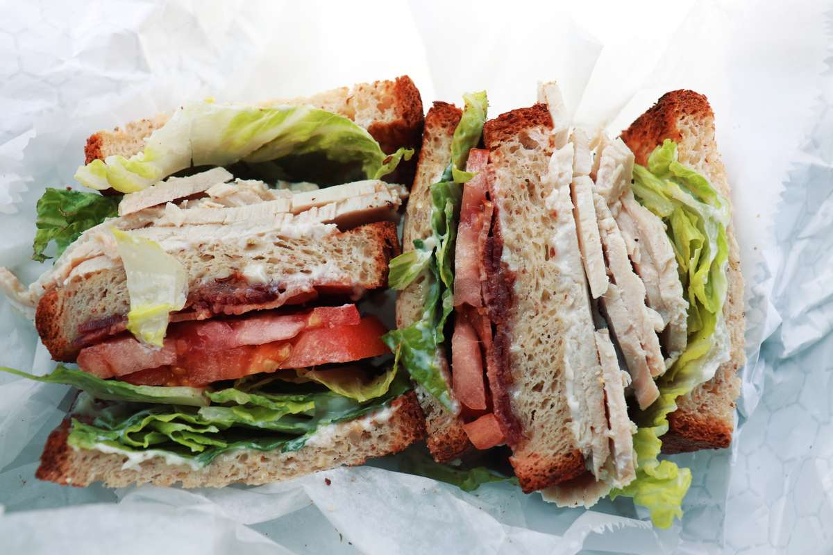 Turkey club on gluten free bread