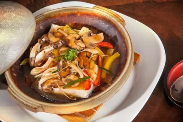 Tofu Steak with Mixed Mushrooms