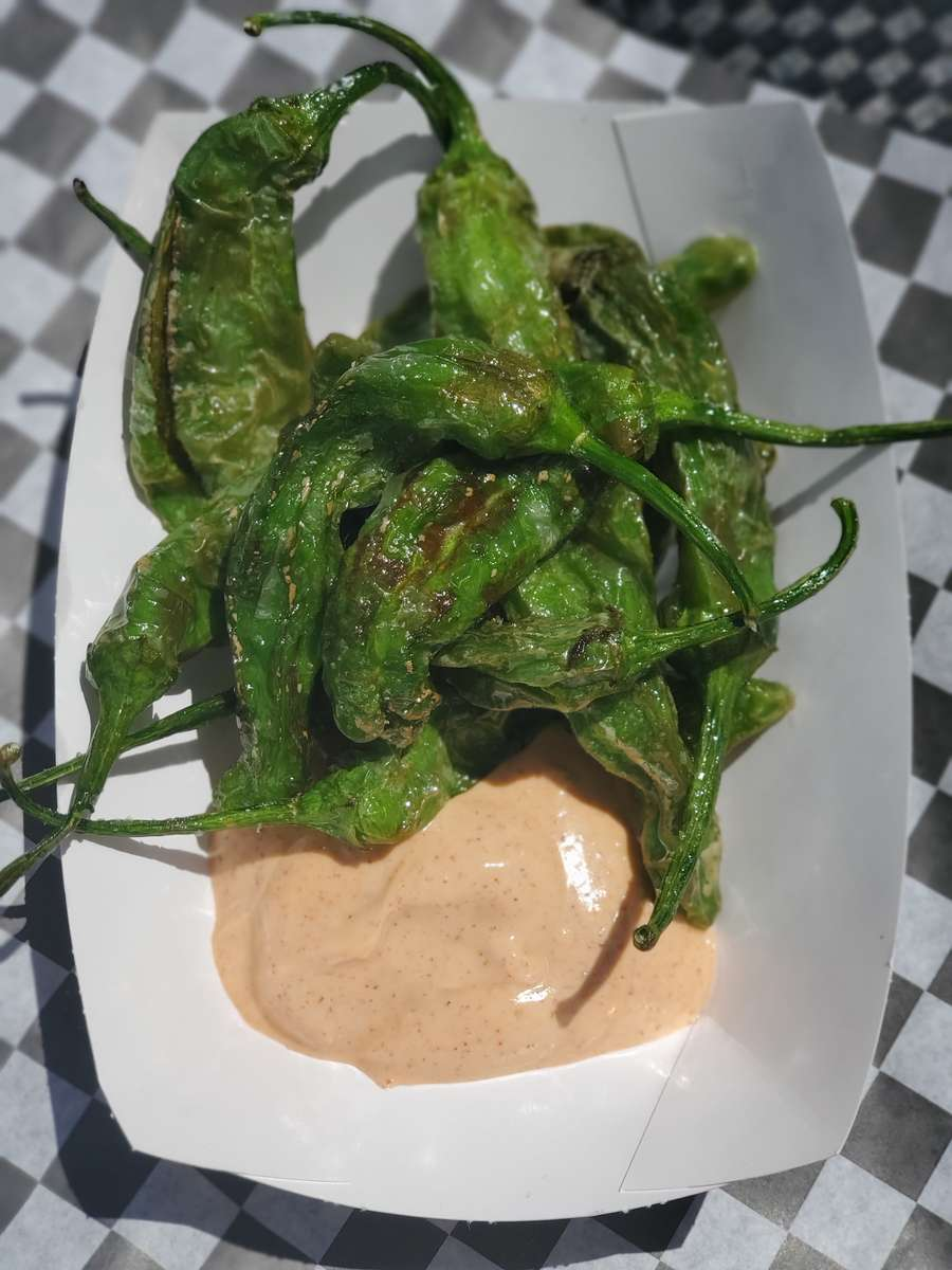 Fried Shishito Peppers