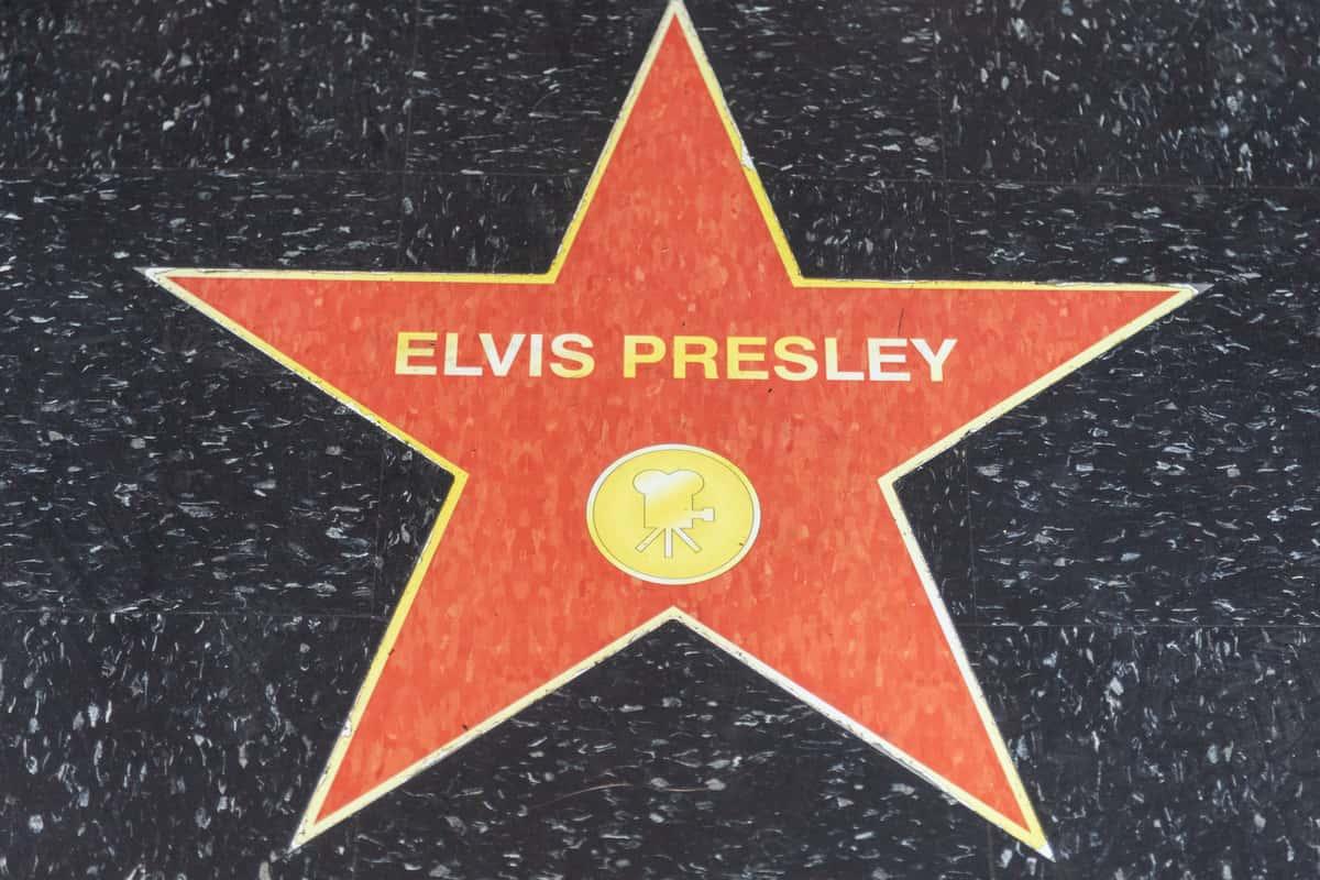 elvis presley star