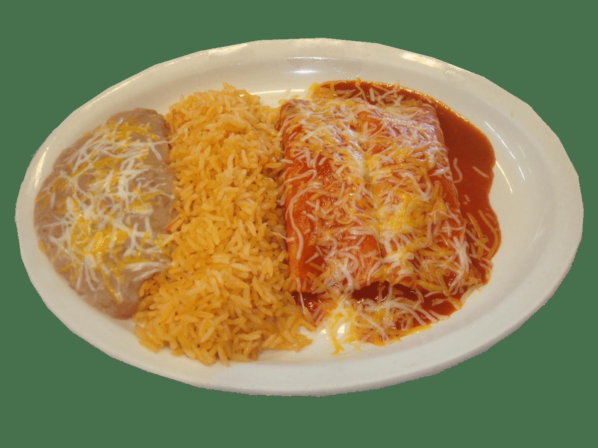 Your choice of Enchiladas