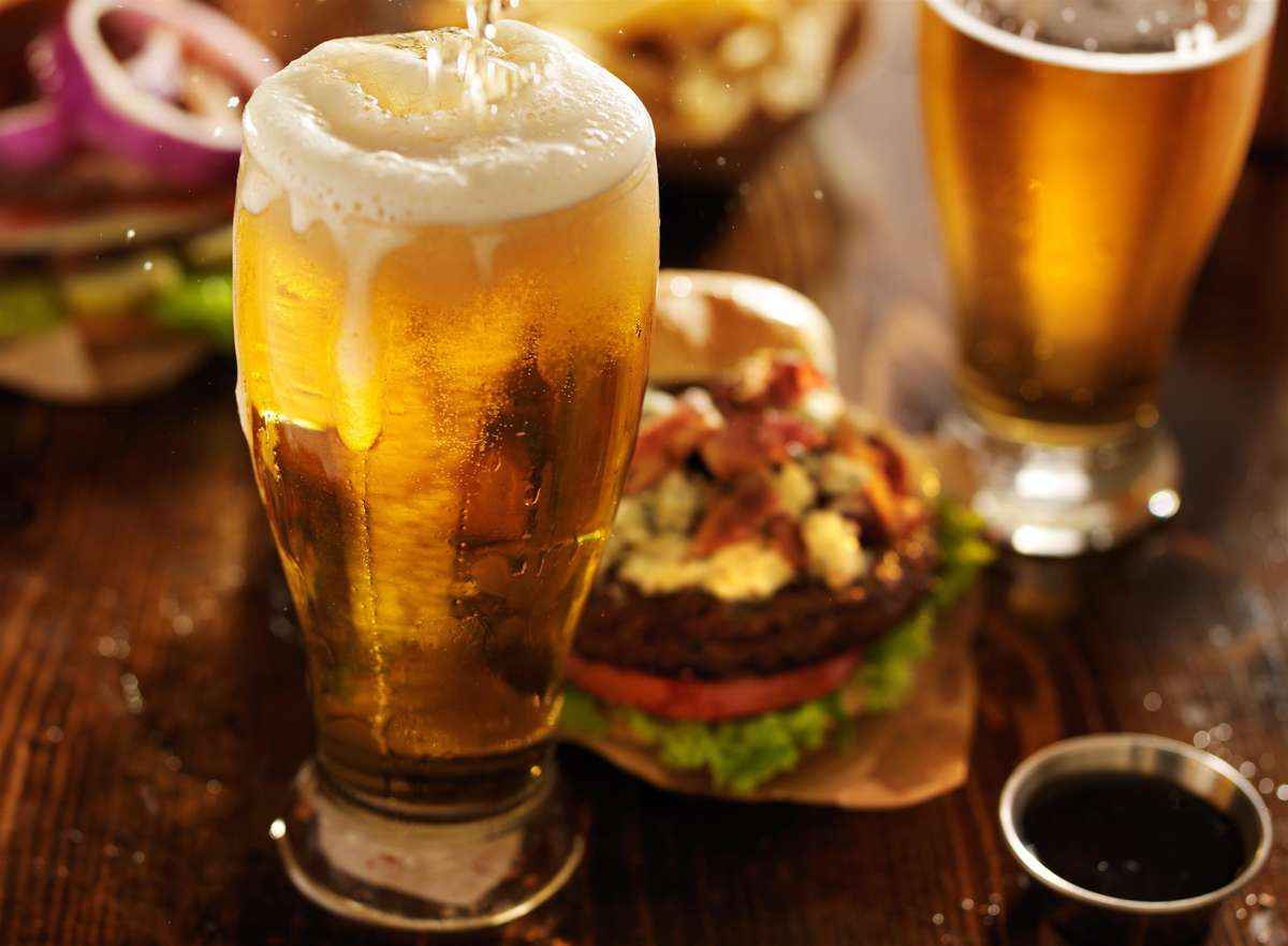 beer and burgers