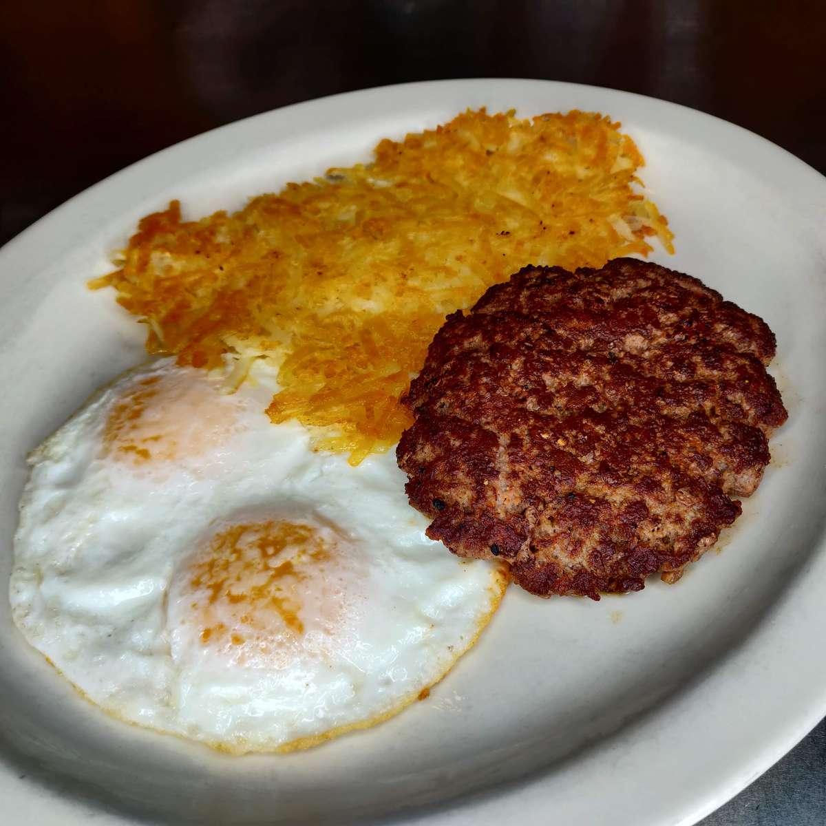 Hamburger Steak and Eggs