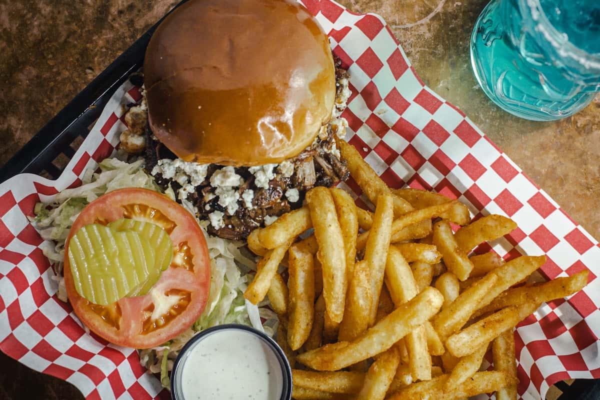 Blue Cheese Brisket Burger
