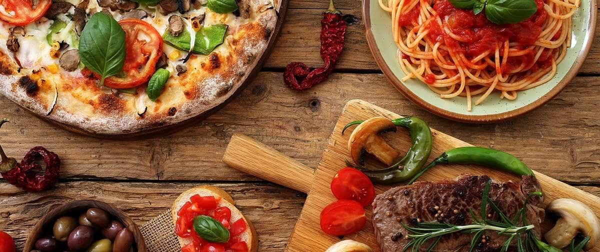 Italian food dishes