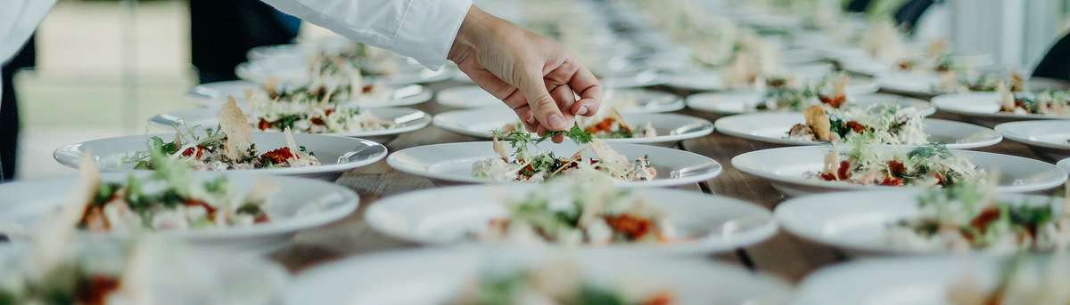 catering table salads